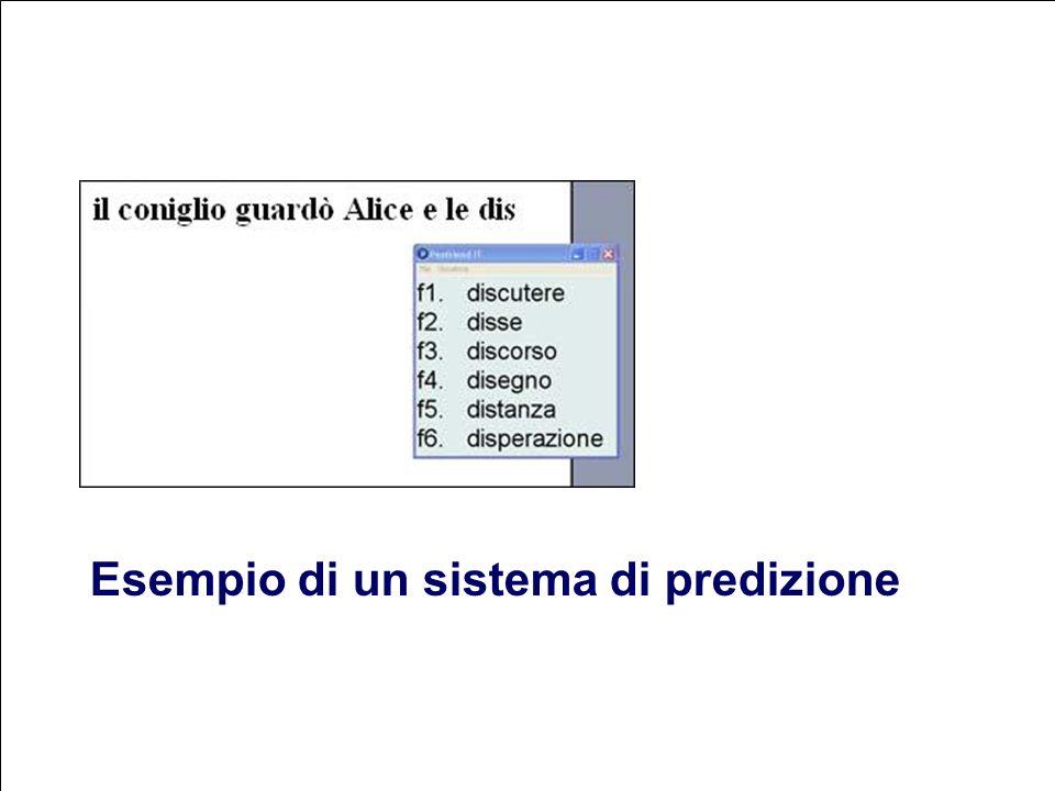 90 Flavio Fogarolo Esempio di un sistema di predizione