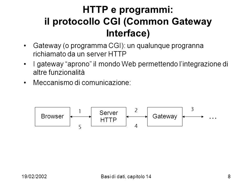 19/02/2002Basi di dati, capitolo 1469 Hypertext Logical Design Step 3 (example)