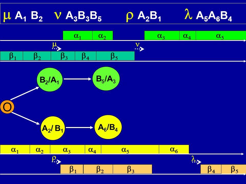 O B 2 /A 1 A2/ B1A2/ B1 A 1 B 2 A 3 B 3 B 5 A 2 B 1 A 5 A 6 B 4 B 5 /A 3 A 6 /B 4