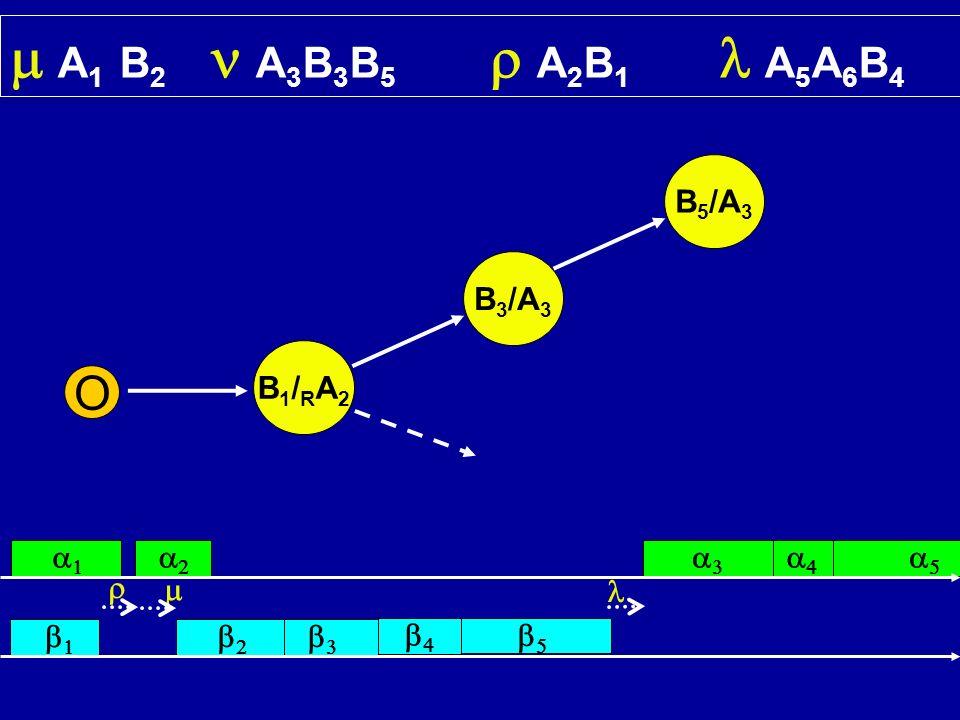 A 1 B 2 A 3 B 3 B 5 A 2 B 1 A 5 A 6 B 4 O B1/RA2B1/RA2 B 3 /A 3 B 5 /A 3
