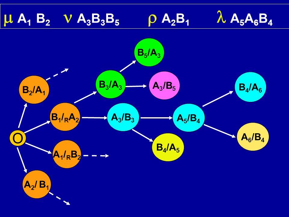 O B1/RA2B1/RA2 A1/RB2A1/RB2 A 1 B 2 A 3 B 3 B 5 A 2 B 1 A 5 A 6 B 4 A 3 /B 3 A 5 /B 4 B 4 /A 6 B 3 /A 3 A 6 /B 4 B 5 /A 3 A 3 /B 5 B 4 /A 5 B 2 /A 1 A