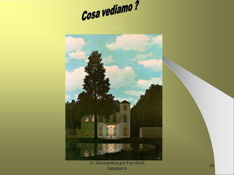 G. Alessandrini per Facoltà di Ingegneria 67 PROGETTAZIONE FORMATIVA Gli scenari della formazione e lo Sviluppo delle risorse umane G.Alessandrini Dip