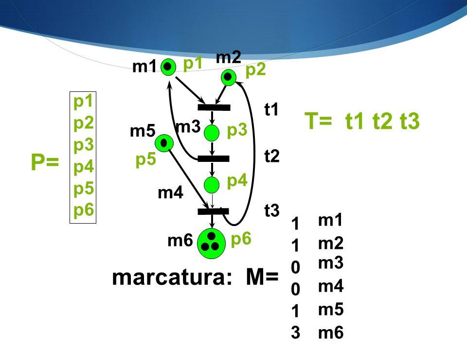 m1 m2 m3 m4 m6 m5 p1 p2 p3 p4 p5 t1 t2 t3 marcatura: M= 1 1 0 0 1 3 T= t1 t2 t3 p1 p2 p3 p4 p5 p6 P= p6 m5 m4 m3 m2 m1 m6
