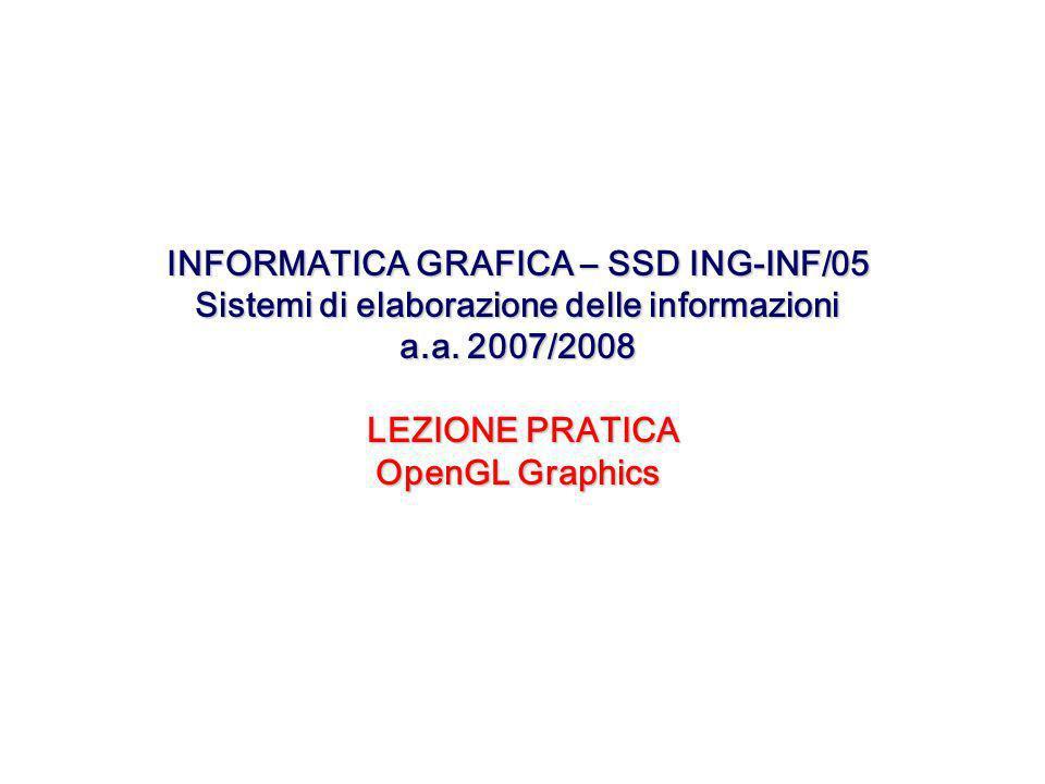 INFORMATICA GRAFICA – SSD ING-INF/05 Sistemi di elaborazione delle informazioni a.a.