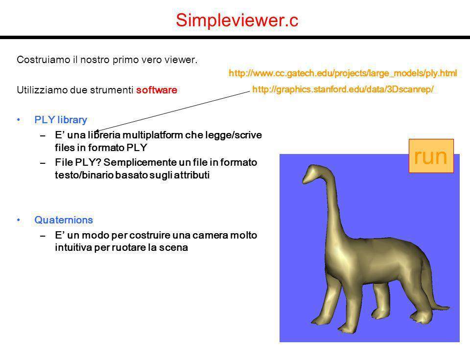 Simpleviewer.c Costruiamo il nostro primo vero viewer.