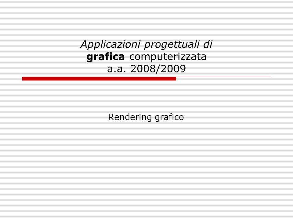 Applicazioni progettuali di grafica computerizzata a.a. 2008/2009 Rendering grafico