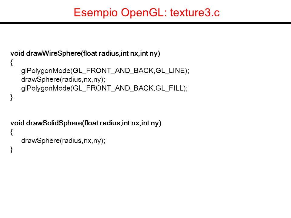 glutInitDisplayMode(GLUT_RGB | GLUT_DOUBLE | GLUT_DEPTH | GLUT_STENCIL); void redraw(void) { glEnable( GL_LIGHTING ); glEnable(GL_DEPTH_TEST); /* dico di pulire lo stencil buffer settando tutti i pixel a 0.