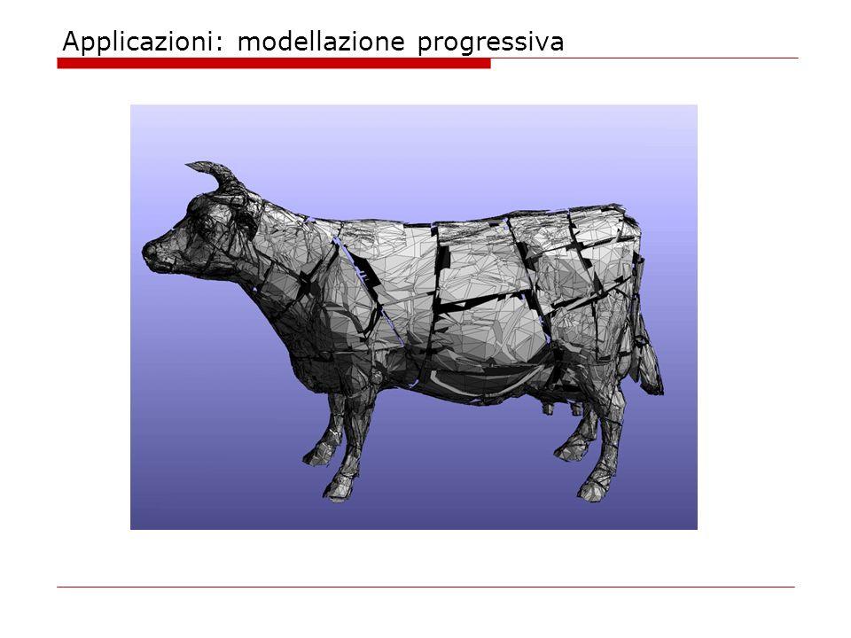 Applicazioni: modellazione progressiva