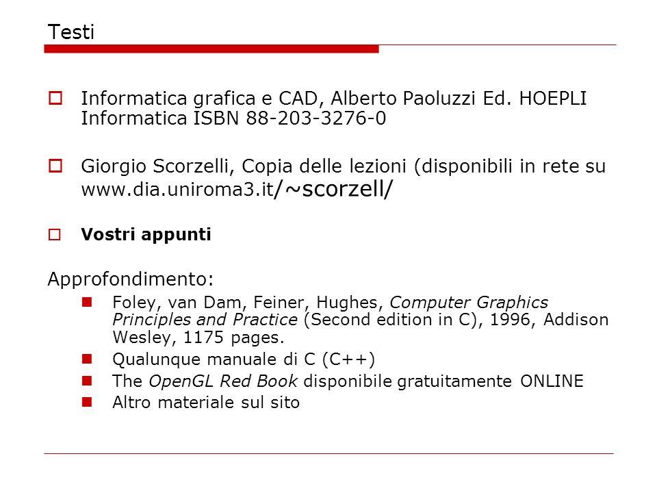 Testi Informatica grafica e CAD, Alberto Paoluzzi Ed.