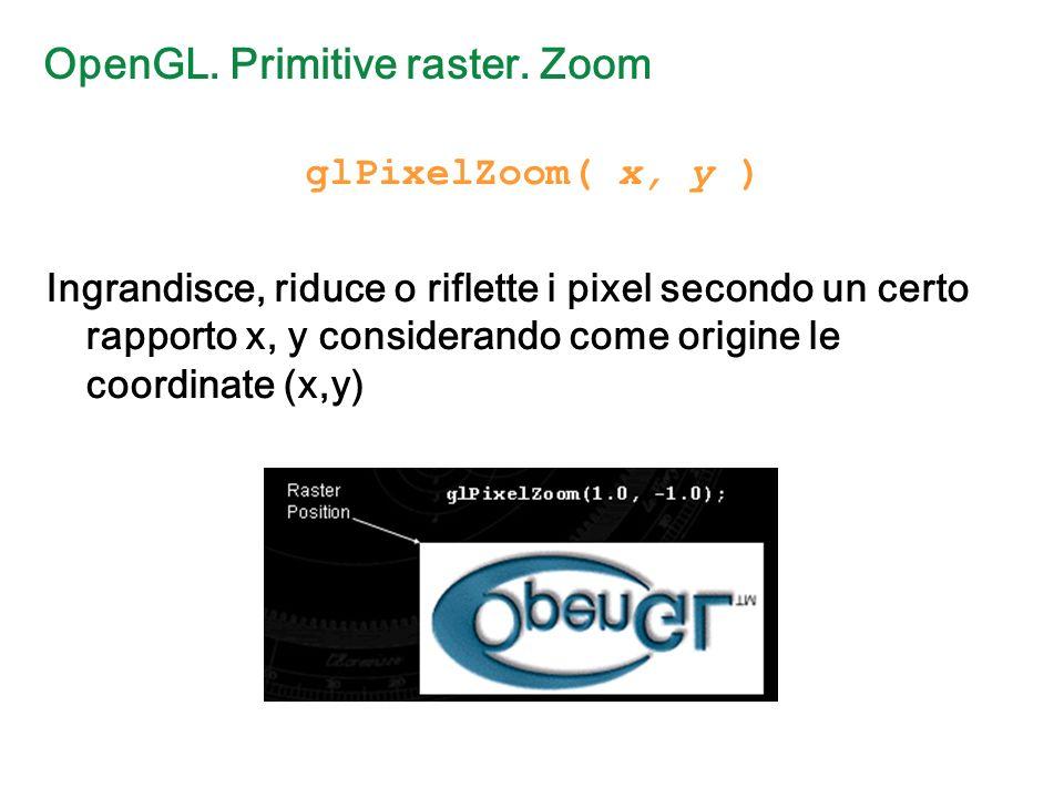 OpenGL. Primitive raster.