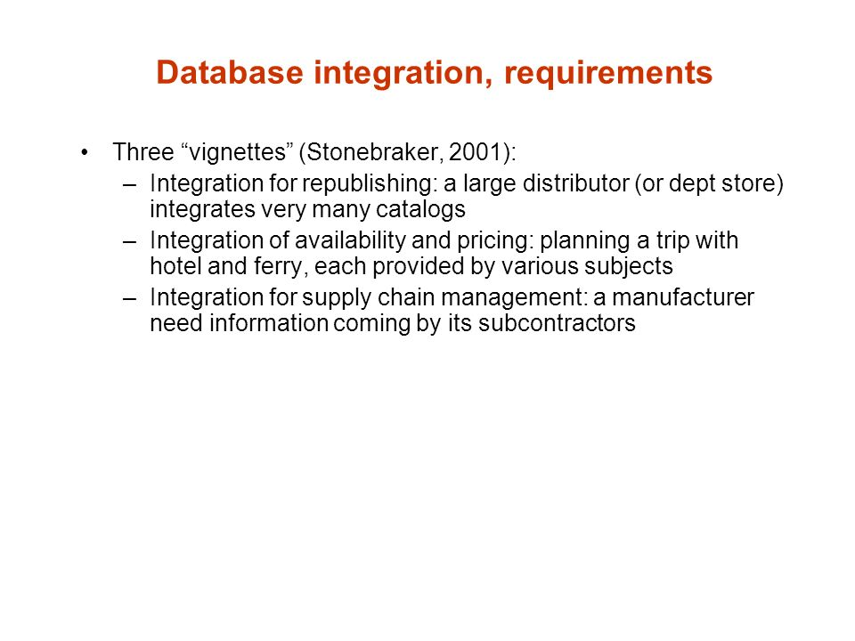 Extraction How many sources we need to integrate.–2-3 or tens or hundreds.
