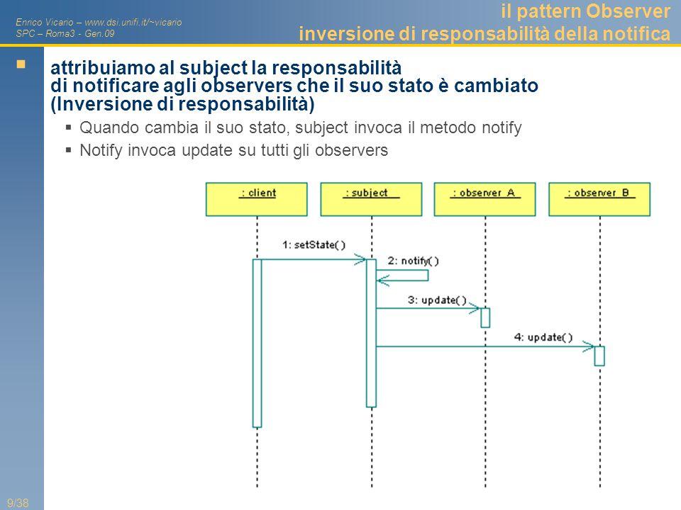 Enrico Vicario – www.dsi.unifi.it/~vicario SPC – Roma3 - Gen.09 30/38 Dalle RFC al sistema-delle-RFC Oltre 100 RFC standardizzate o in via di standardizzazione Complessità di ricerca e garanzia di consistenza