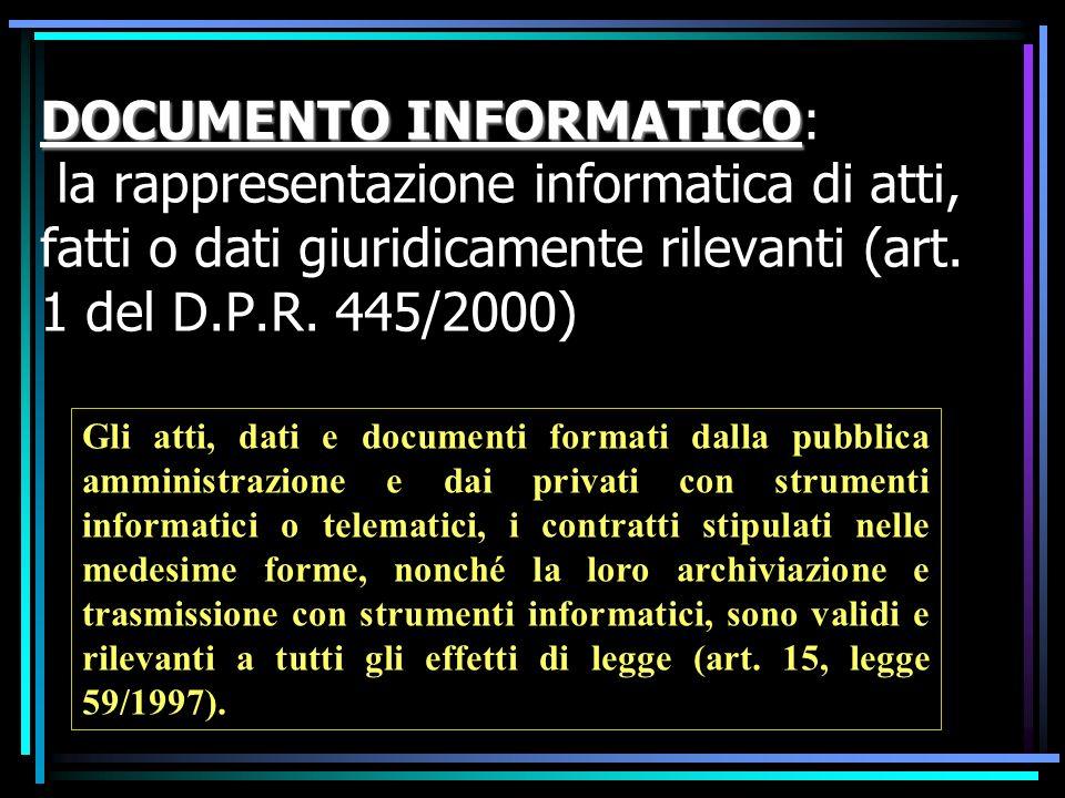 Il documento informatico, sottoscritto con firma digitale o con un altro tipo di firma elettronica qualificata, ha l efficacia prevista dall articolo 2702 del codice civile.