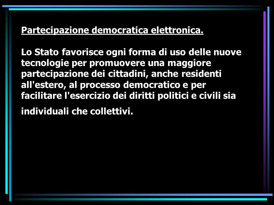 Partecipazione democratica elettronica.