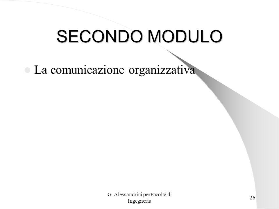 G. Alessandrini perFacoltà di Ingegneria 25