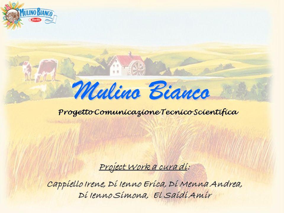 Project Work a cura di: Cappiello Irene, Di Ienno Erica, Di Menna Andrea, Di Ienno Simona, El Saidi Amir Mulino Bianco Progetto Comunicazione Tecnico