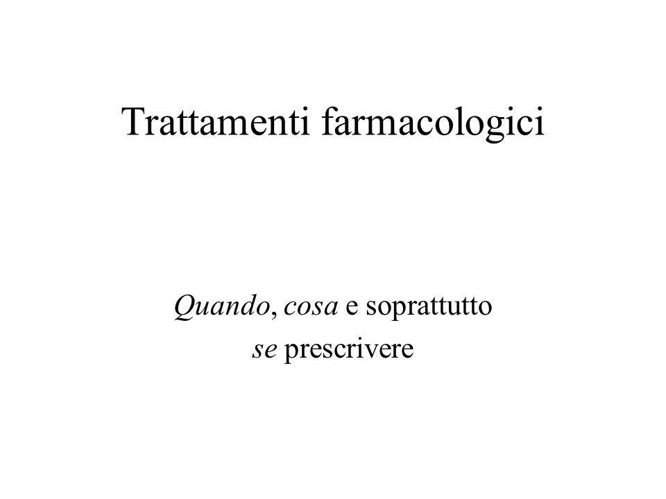 Trattamenti farmacologici Quando, cosa e soprattutto se prescrivere