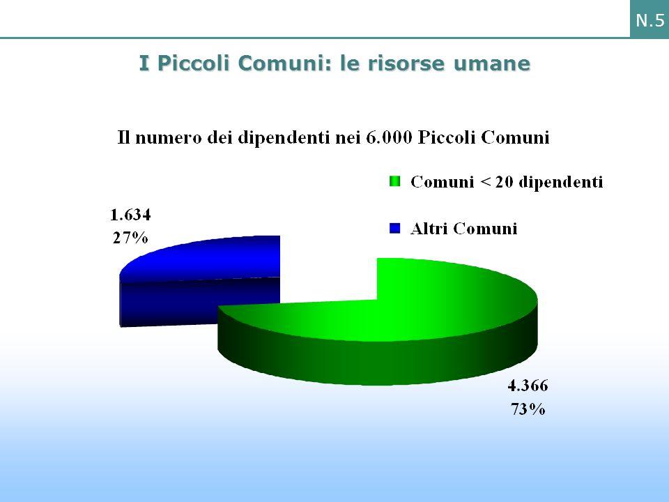 N.5 I Piccoli Comuni: le risorse umane