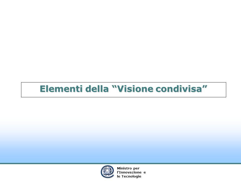 Ministro per lInnovazione e le Tecnologie Elementi della Visione condivisa