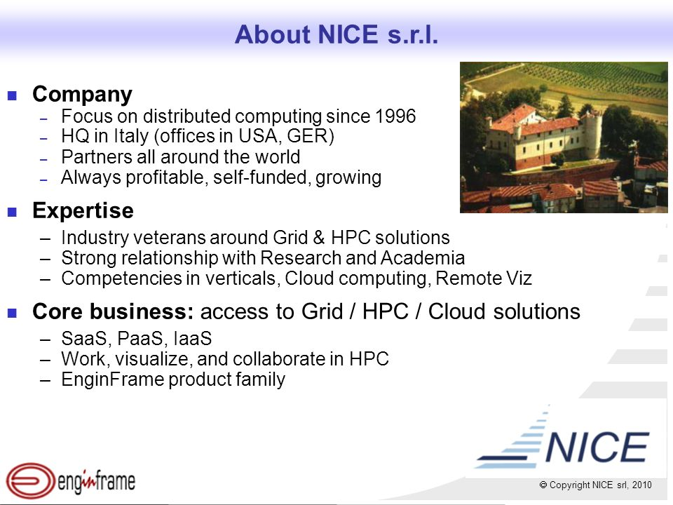 Copyright NICE srl, 2010 100 Customers... and Growing