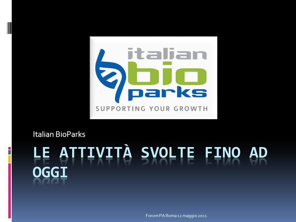 Italian BioParks Forum PA Roma 12 maggio 2011