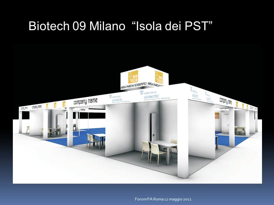Biotech 09 Milano Isola dei PST Forum PA Roma 12 maggio 2011