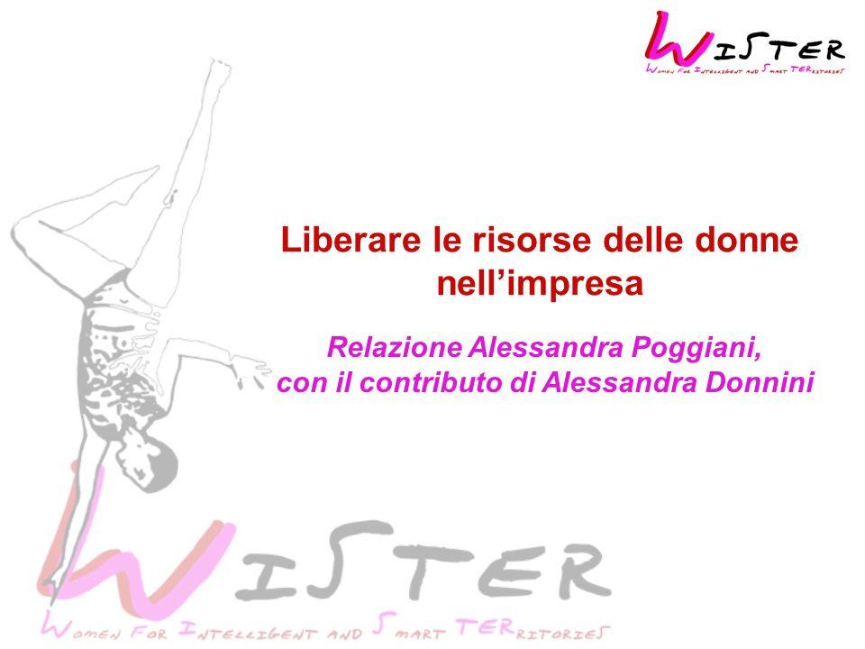 Liberare le risorse delle donne nellimpresa Relazione Alessandra Poggiani, con il contributo di Alessandra Donnini