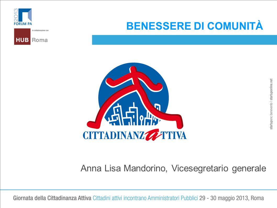 BENESSERE DI COMUNITÀ LOGO Anna Lisa Mandorino, Vicesegretario generale