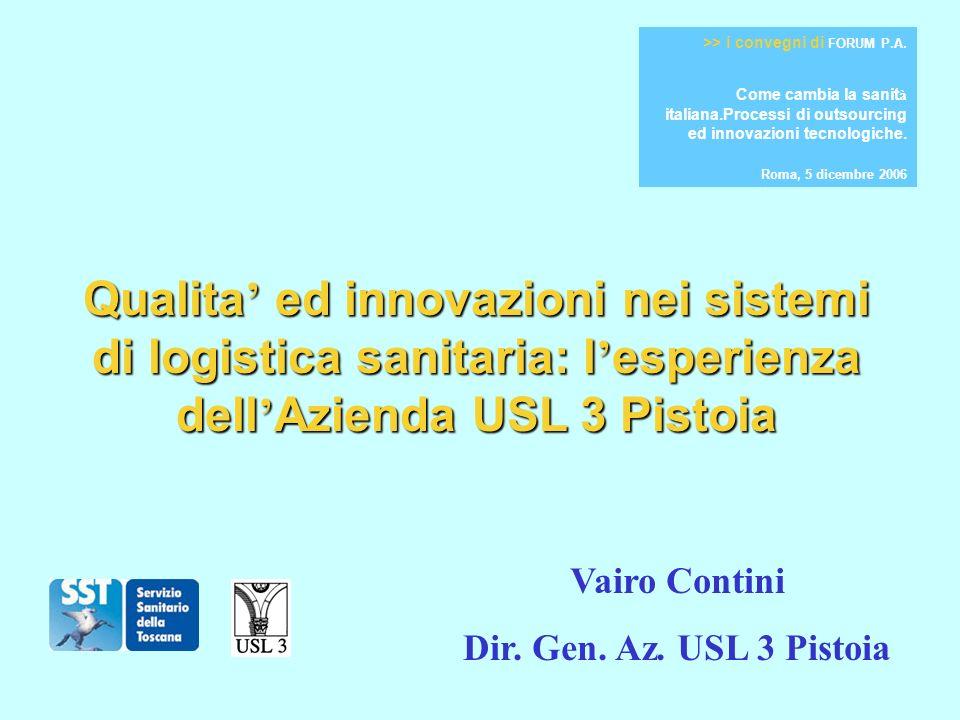 Lesperienza di Pistoia viene concepita nel 2002 e nasce nellaprile 2003 in un contesto caratterizzato da: 1)Gli straordinari aumenti di spesa del 2001 (in Toscana: dal 29,94 di Prato al 37,77 di Pistoia) 2)La legge 405/2001 3)Due delibere di Giunta Regionale (135 e 1263/ 2002) di attuazione della L.