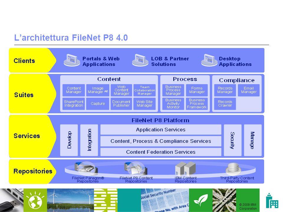 © 2009 IBM Corporation | Larchitettura FileNet P8 4.0