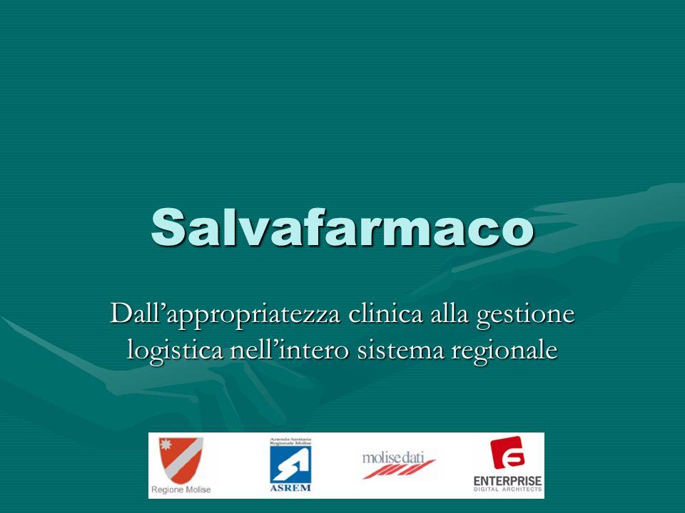 Salvafarmaco Dallappropriatezza clinica alla gestione logistica nellintero sistema regionale