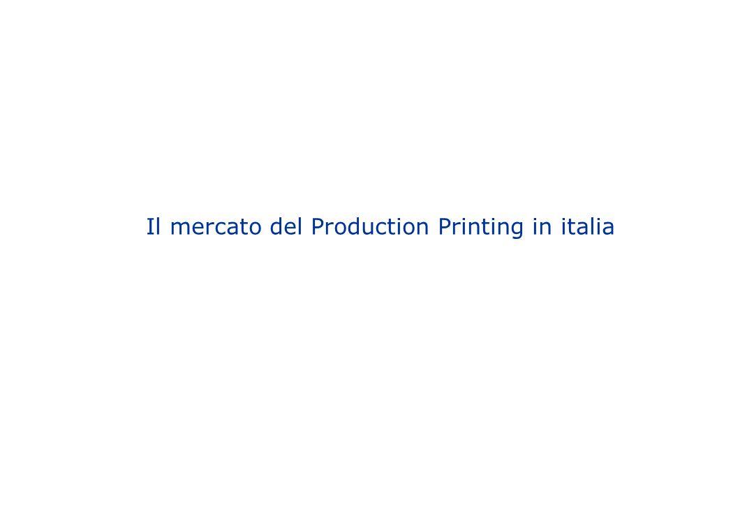 Il mercato del Production Printing in italia