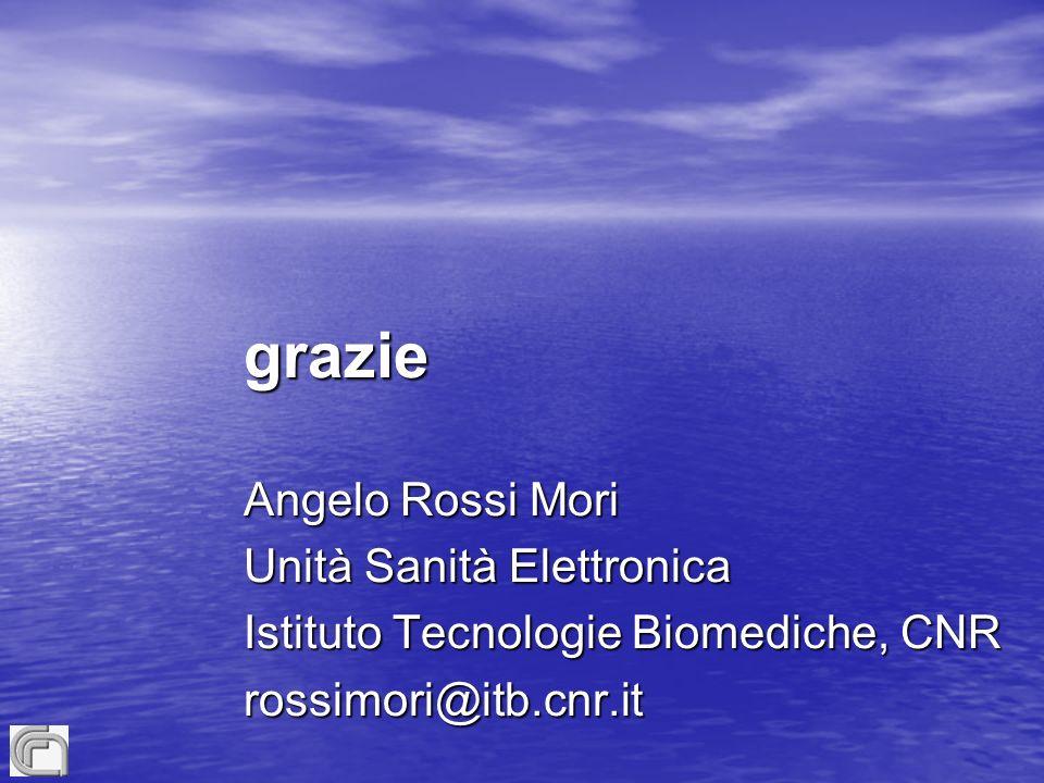 grazie Angelo Rossi Mori Unità Sanità Elettronica Istituto Tecnologie Biomediche, CNR rossimori@itb.cnr.it