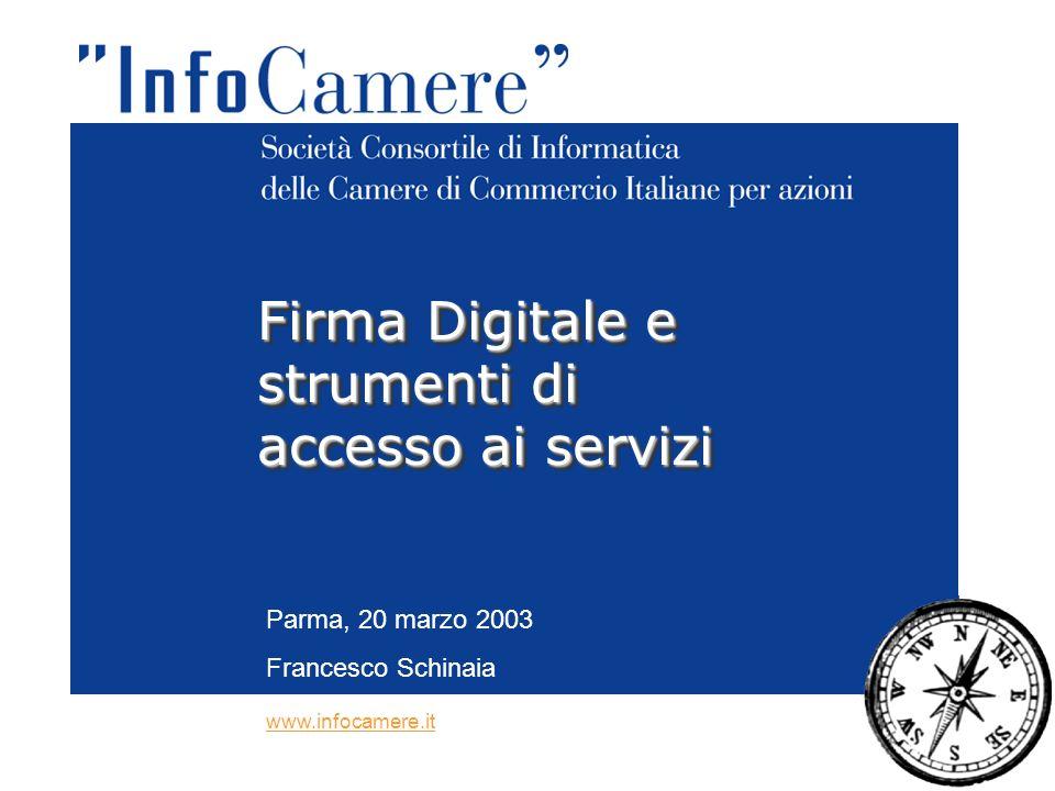 Parma, 20 marzo 2003 Francesco Schinaia Firma Digitale e strumenti di accesso ai servizi www.infocamere.it