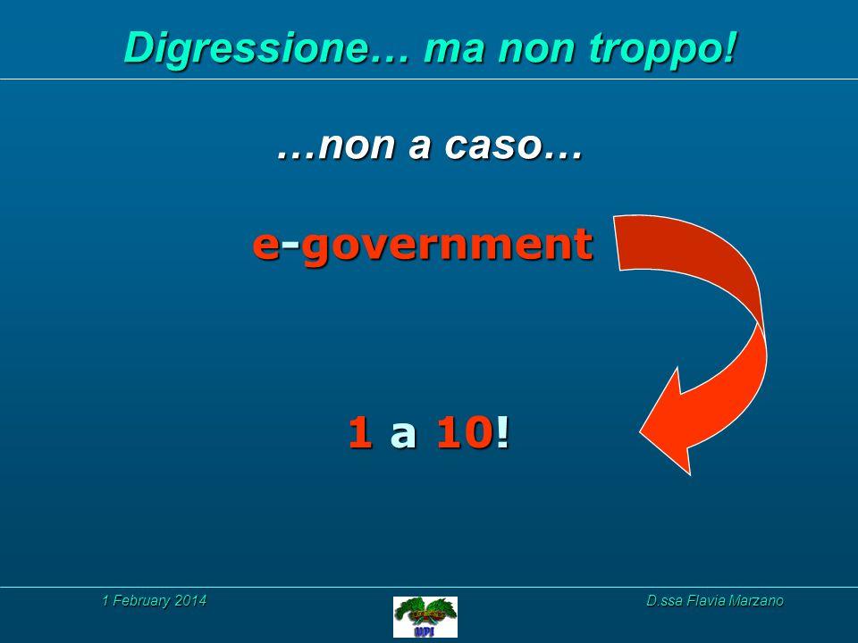 1 February 20141 February 20141 February 2014D.ssa Flavia Marzano Digressione… ma non troppo.