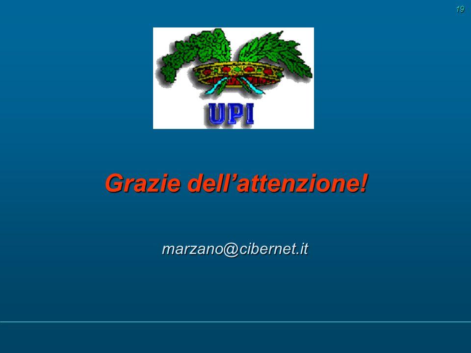 marzano@cibernet.it 19 Grazie dellattenzione!