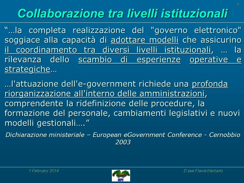 1 February 20141 February 20141 February 2014D.ssa Flavia Marzano 6 1.1 Progetti 1.2 Tecnologie e Strumenti 1.3 Idee & Competenze 1.4 Metodologie 1.5 Soluzioni 1.6 … 1.