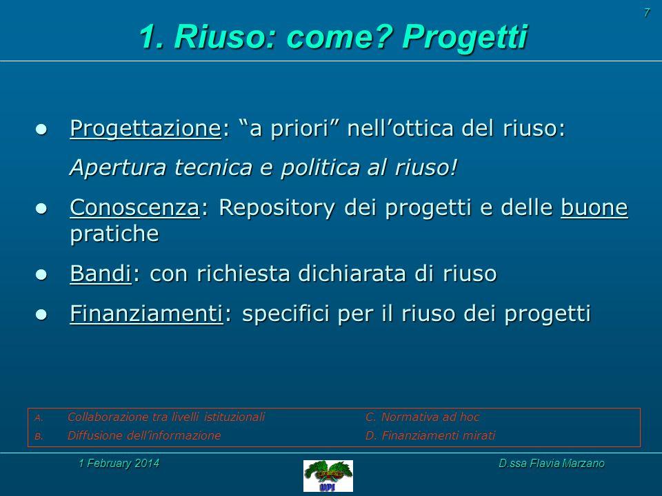 1 February 20141 February 20141 February 2014D.ssa Flavia Marzano 1.
