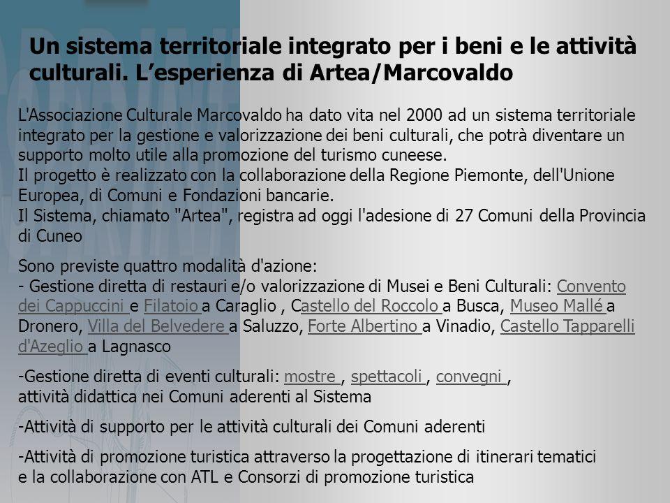 Un sistema territoriale integrato per i beni e le attività culturali.