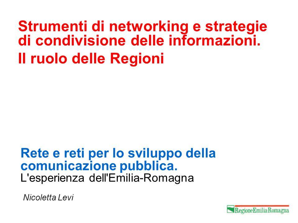 Rete e reti per lo sviluppo della comunicazione pubblica.