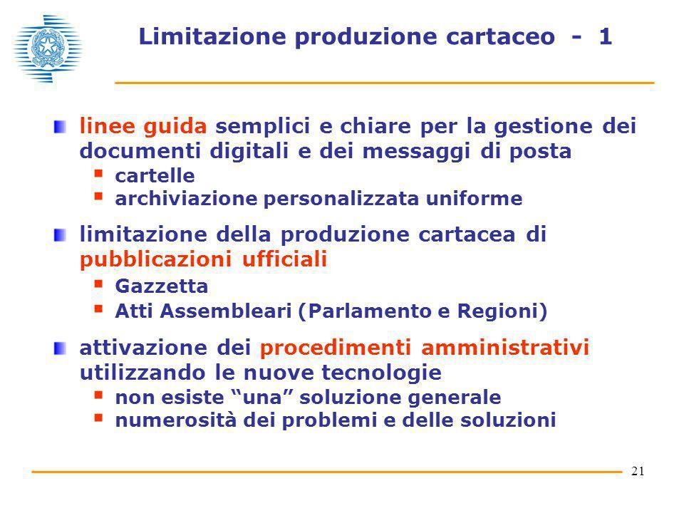 21 Limitazione produzione cartaceo - 1 linee guida semplici e chiare per la gestione dei documenti digitali e dei messaggi di posta cartelle archiviaz