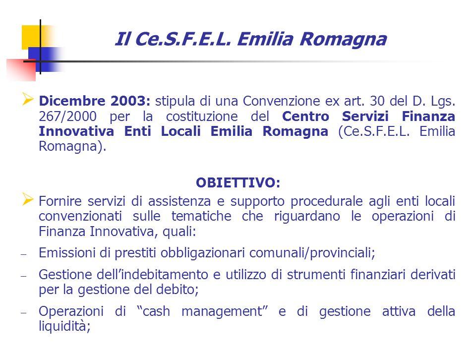 Dicembre 2003: stipula di una Convenzione ex art. 30 del D.