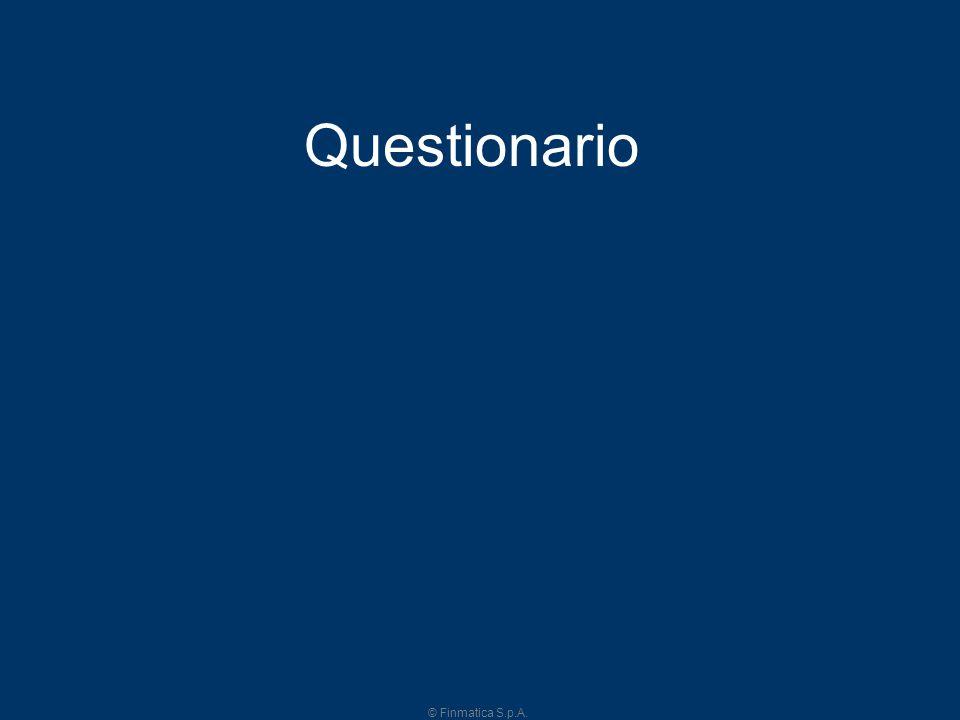 © Finmatica S.p.A. 5 Questionario