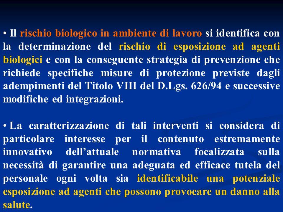 Direttiva 2000/54/CE Parlamento Europeo e Consiglio : protezione dei lavoratori contro i rischi derivanti da esposizione ad agenti biologici durante il lavoro Art.