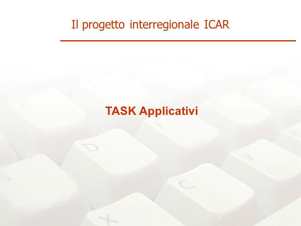 TASK Applicativi Il progetto interregionale ICAR