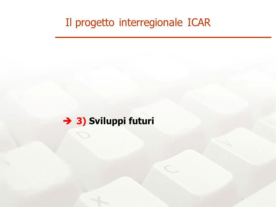 3) Sviluppi futuri Il progetto interregionale ICAR
