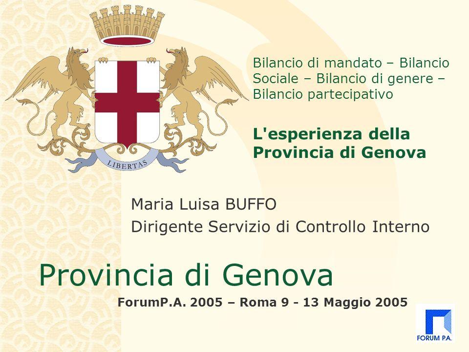 Provincia di Genova ForumP.A.