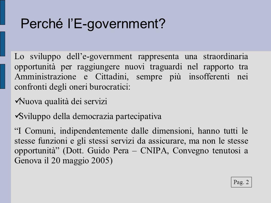 Perché lE-government.