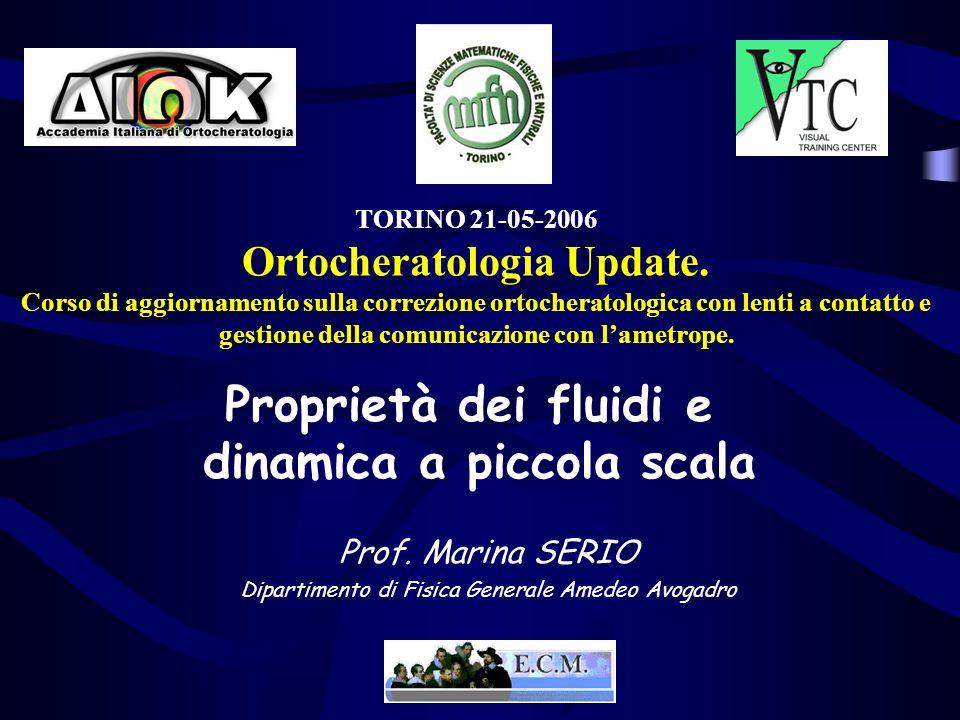 TORINO 21-05-2006 Ortocheratologia Update. Corso di aggiornamento sulla correzione ortocheratologica con lenti a contatto e gestione della comunicazio