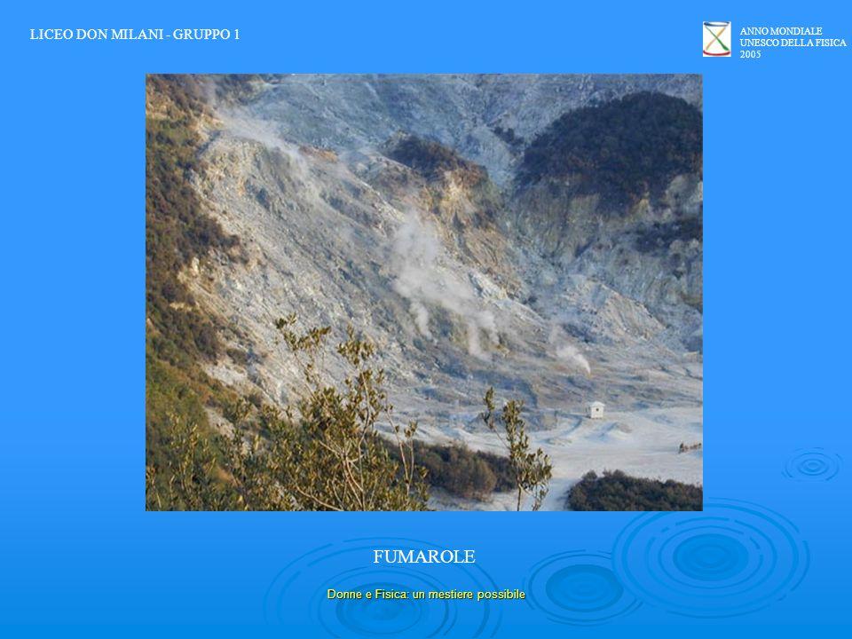 ANNO MONDIALE UNESCO DELLA FISICA 2005 Donne e Fisica: un mestiere possibile FUMAROLE LICEO DON MILANI - GRUPPO 1